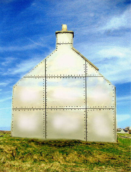 Ettie Spencer, 'Changing Places', 2006, derelict house and aluminium sheeting