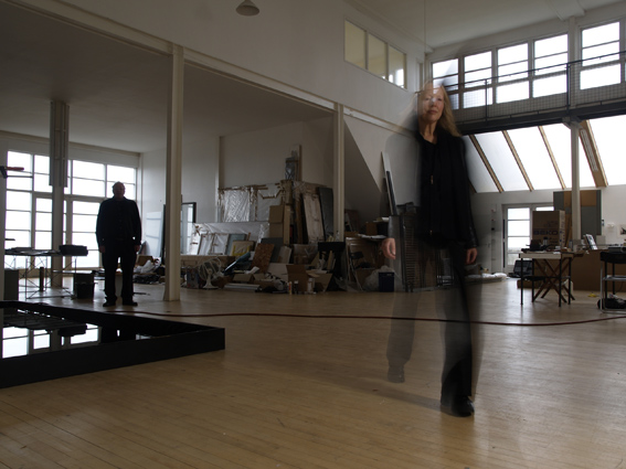 Elizabeth Ogilvie and Bob Callender in their studio, a converted cinema in Fife