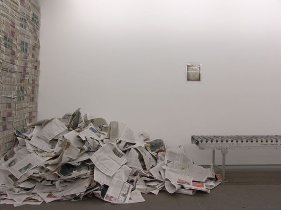 Gustav Metzger, 'Eichmann and the Angel', 2005, installation view, Kunsthalle Basel, 2006