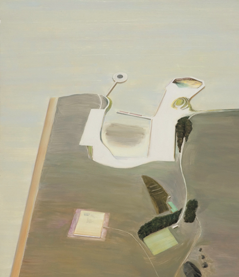 Carol Rhodes, 'Inlet', 1997, oil on board