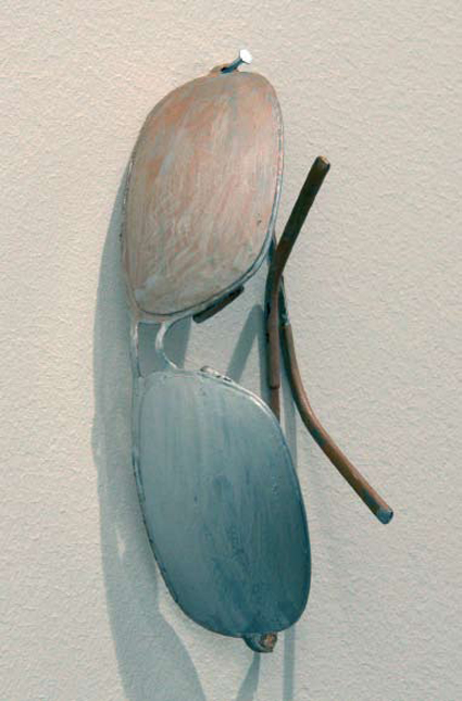 'No Title', 2007, found object, gouache