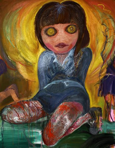 Lucy Stein, 'Gwoopie luv', 2007, oil on canvas
