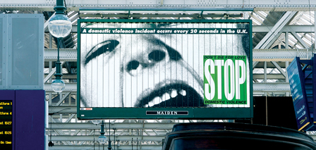 NEW WORK, Barbara Kruger, 2005, billboard, Central Station