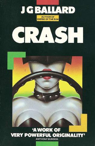 1985 Triad Granada book cover for JG Ballard's Crash, illustration James Marsh