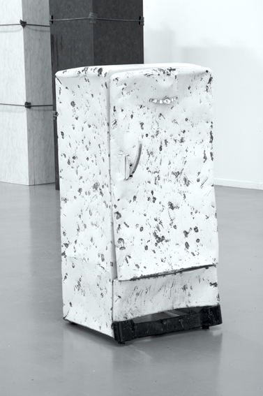 Jimmie Durham, 'Stoning the Refrigerator', 1996, refrigerator, video recording