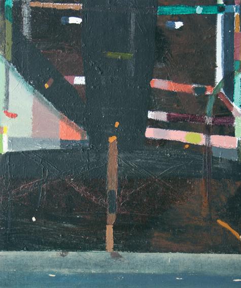 No Title (Black), 1984-2008, acrylic on canvas
