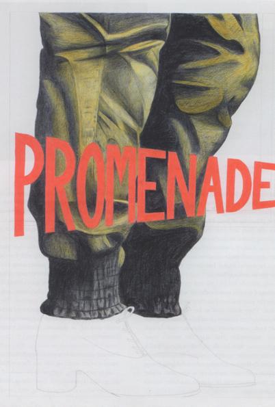 Sophie Macpherson, 'PromenadeGold Traveller's Trousers', 2010, framed coloured pencil on paper
