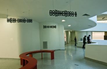 Liam Gillick, installation view, Guggenheim, New York, 2008