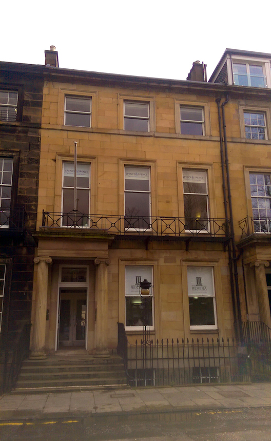 The former premises of the Commonwealth Institute Edinburgh, 8 Rutland Square, Active 1961-1996. Photograph by the author