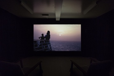 Ross Little, The Heavy of Your Body Parts and The Cool Air of the Air Condition (installation view), 2017, HD video, looped, commissioned by Collective. Image courtesy Tom Nolan