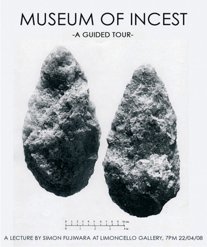'The Museum of IncestA Guided Tour', poster for performance, Limoncello, London, 2008