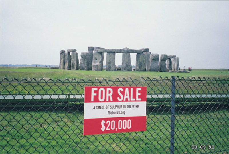 Bill Drummond, 'For Sale' placard, from How To Be An Artist published by the Penkiln Burn, 2002