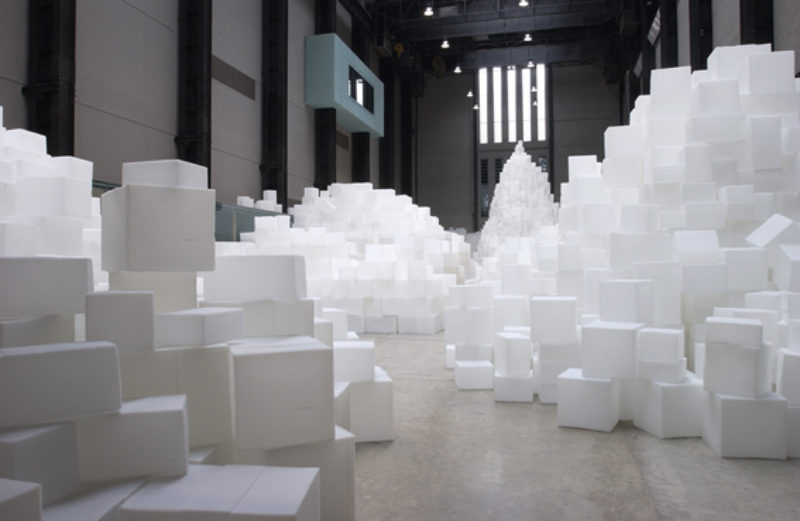 Rachel Whiteread, 'Embankment', 2005, 14000 casts of different boxes, Tate Turbine Hall, 11 October 2005-1 May 2006