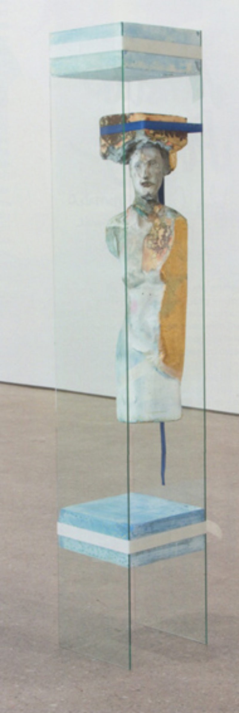Matthew Monahan, 'Dear Mineral', 2008, glass, foam, wax, pigment, 3 straps, 3 ratchets