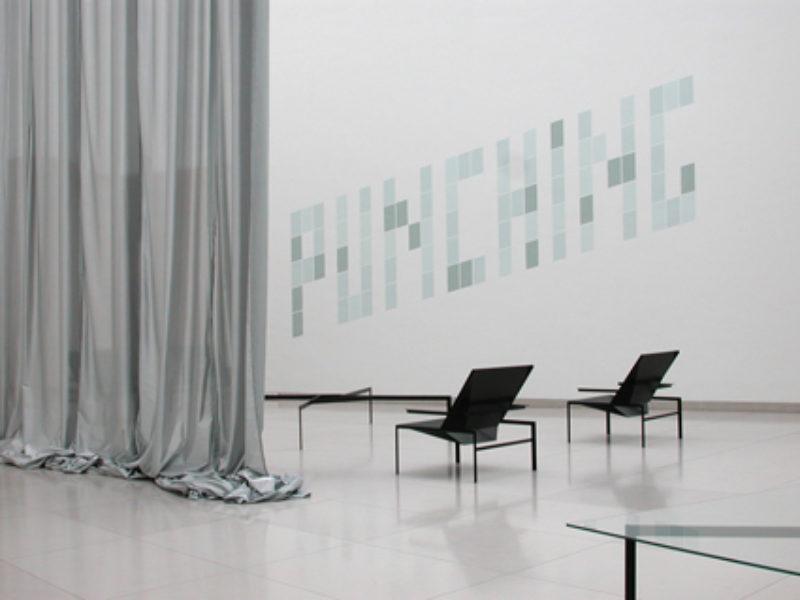 Martin Boyce, installation view, Museum fr Kunst, Frankfurt an Main, 2002