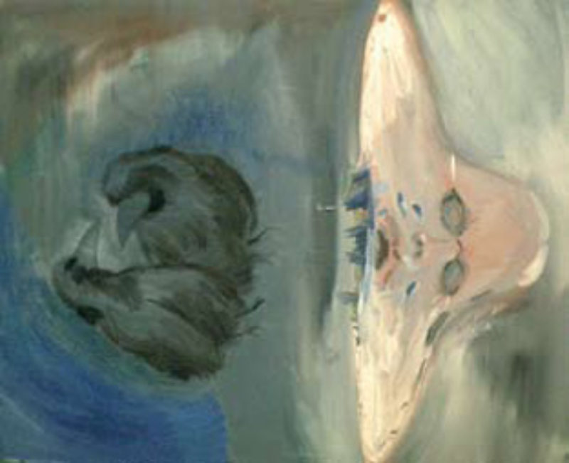 'Blackbirds', 2008, oil on canvas
