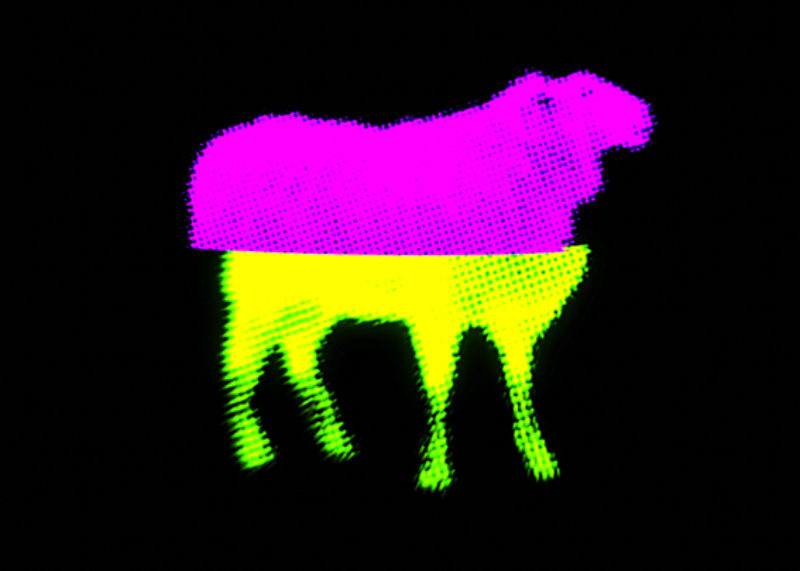 Alistair Gentry, 'Sheep Splice', 2007, Three Times True video projection