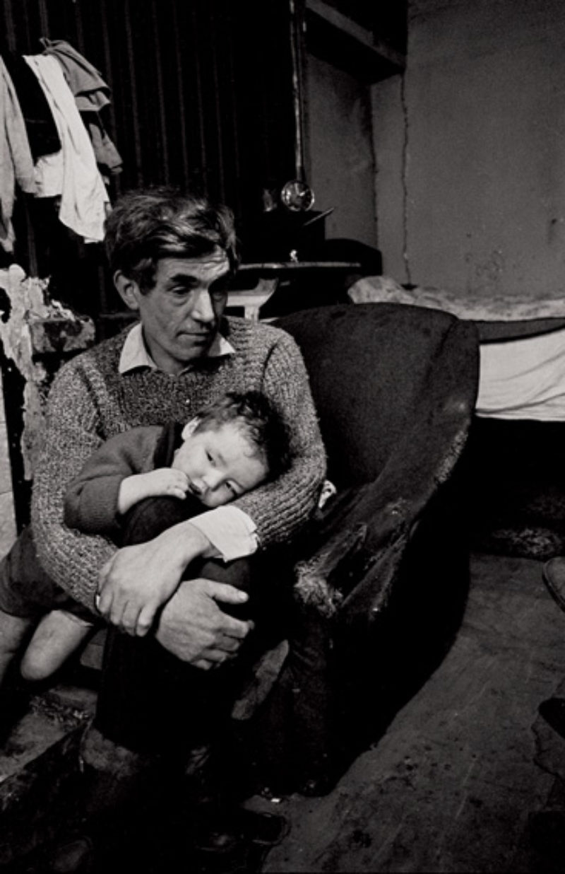 Father and son, Nick Hedges for Shelter 1969/70