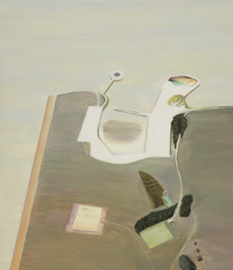 Carol Rhodes, 'Inlet', 1997, oil on board
