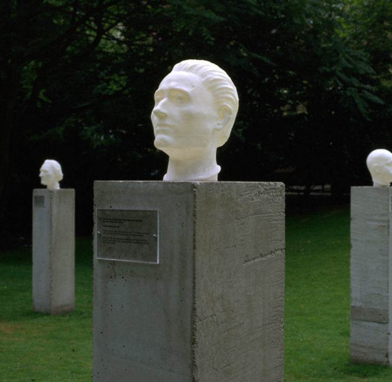 Christine Borland, 'The Dead Teach the Living', 1997, ABS plastic, wood, text