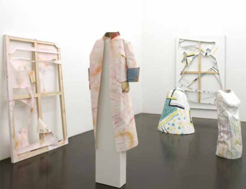 Paulina Olowska, Attention a la Peinture, 2008, installation view