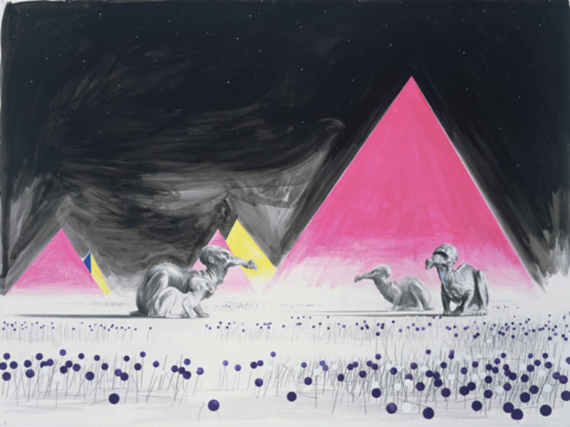 Untitled (Herd of Alephs), 2008, pencil, ink and gouache on paper