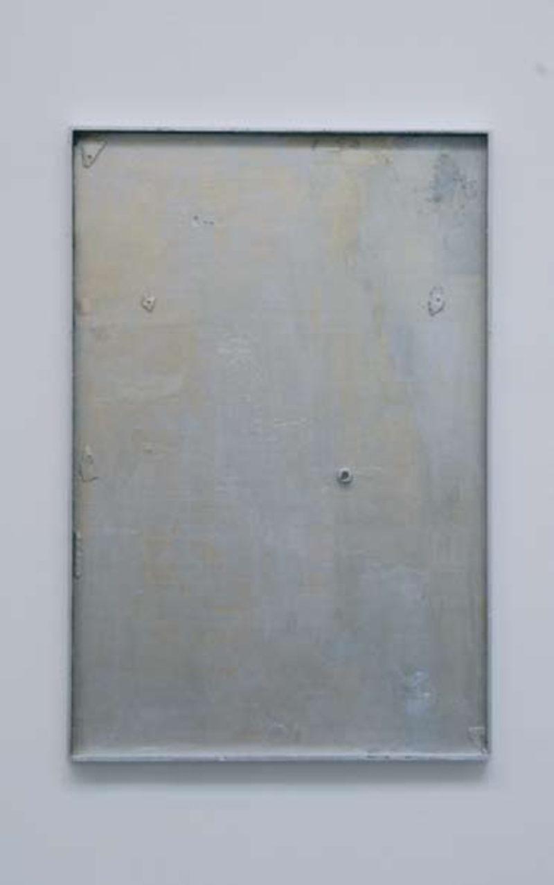 'Variations', 2008, wood, gouache, enamel paint, photograph, clay