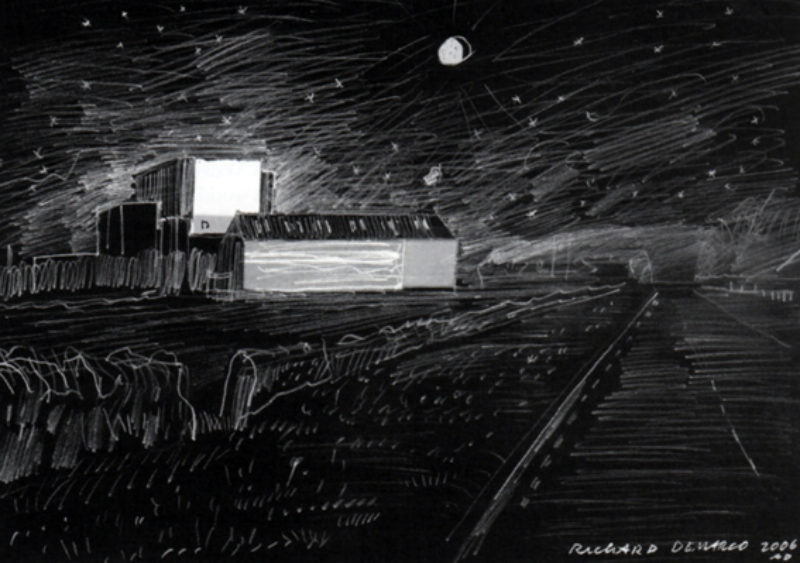 Richard Demarco, 'Lumin de Lumine', drawing of the Ken McMullin artwork launched on the night of 9 February 2006