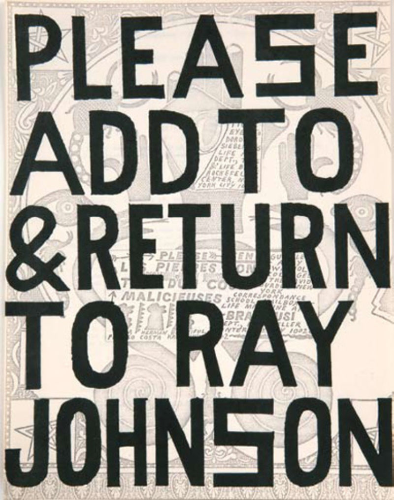 'Untitled (Please Add to & Return to Ray Johnson)', undated, drawing