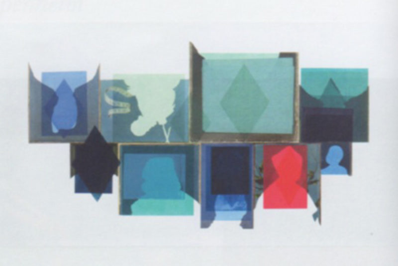 Lucy Saker, ' Blanks towards Harlequin', 2011, screen print on digital c-print
