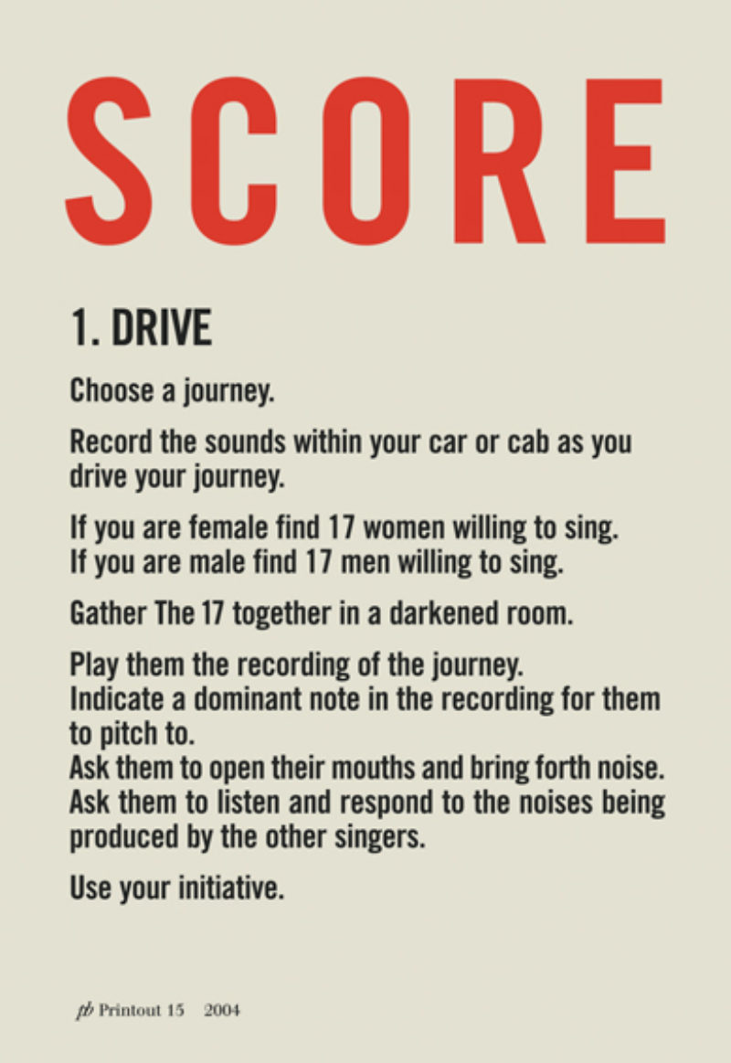 Scores from Bill Drummond's 'The 17'
