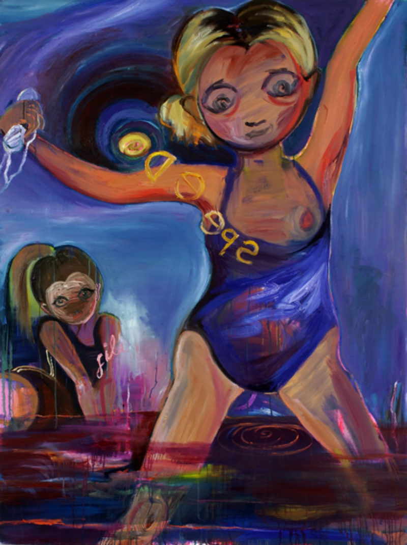 Lucy Stein, 'Competitive Twats', 2007, oil on canvas