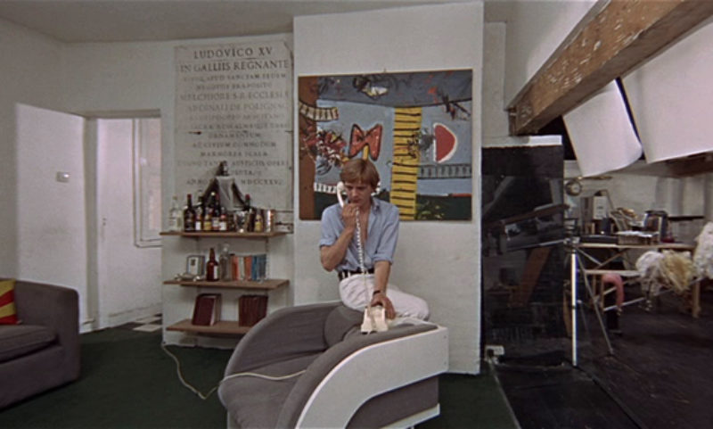 A scene from Nlow-Up, showing Alan Davie's painting