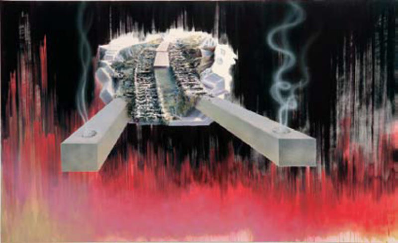 'Up in Smoke', 2007, oil, acrylic and spray-paint on canvas