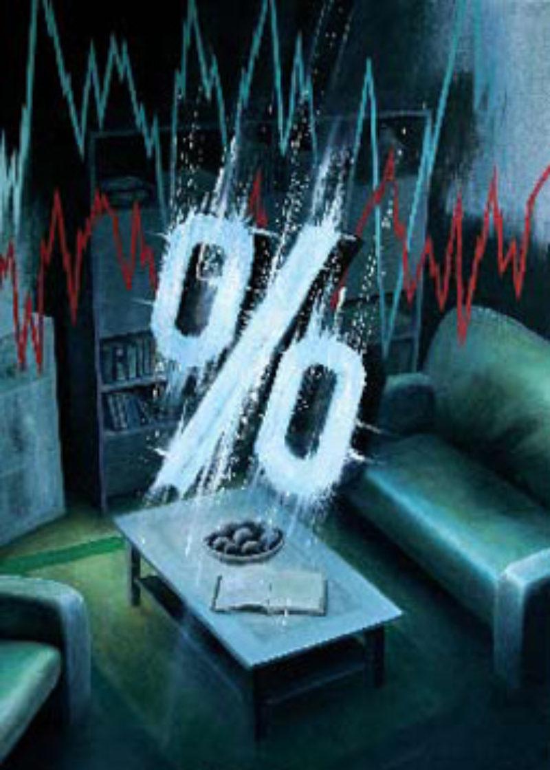 '%', 2008, oil acrylic and spray-paint on canvas'