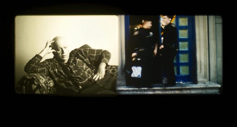Rosalind Nashashibi, Bachelor Machines Part II, 2007, 2 screens, 16mm film, 5 minutes
