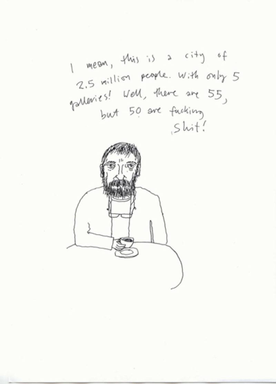 Stuart Murray, 'Bucharest October 2006', pen on paper