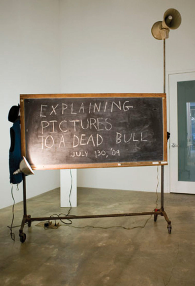The Bruce High Quality Foundation, 'Explaining Pictures to a Dead Bull', 2009, installation/performance