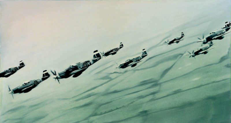 'Mustang-Staffel' (Mustang Squadron), 1964, oil on canvas