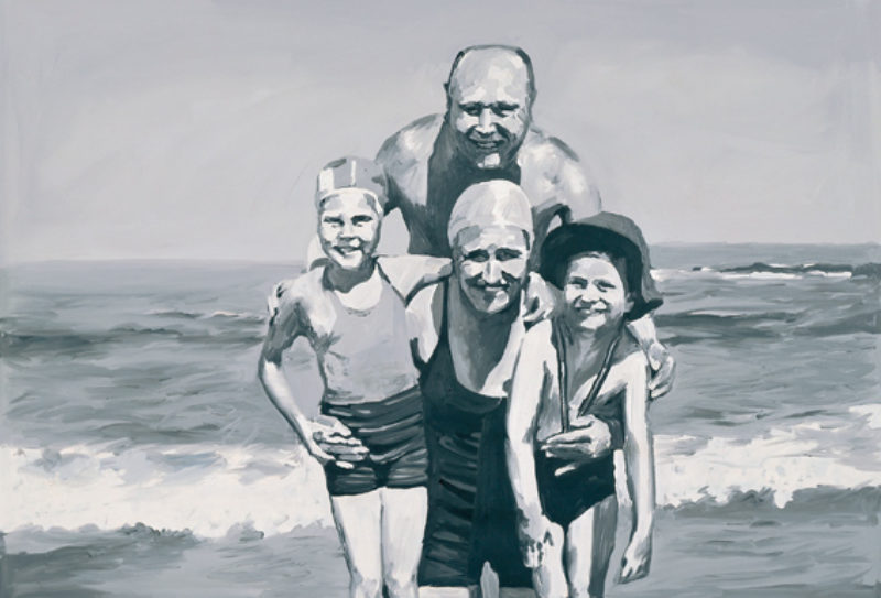 'Familie am Meer' (Family at the Seaside), 1964, oil on canvas