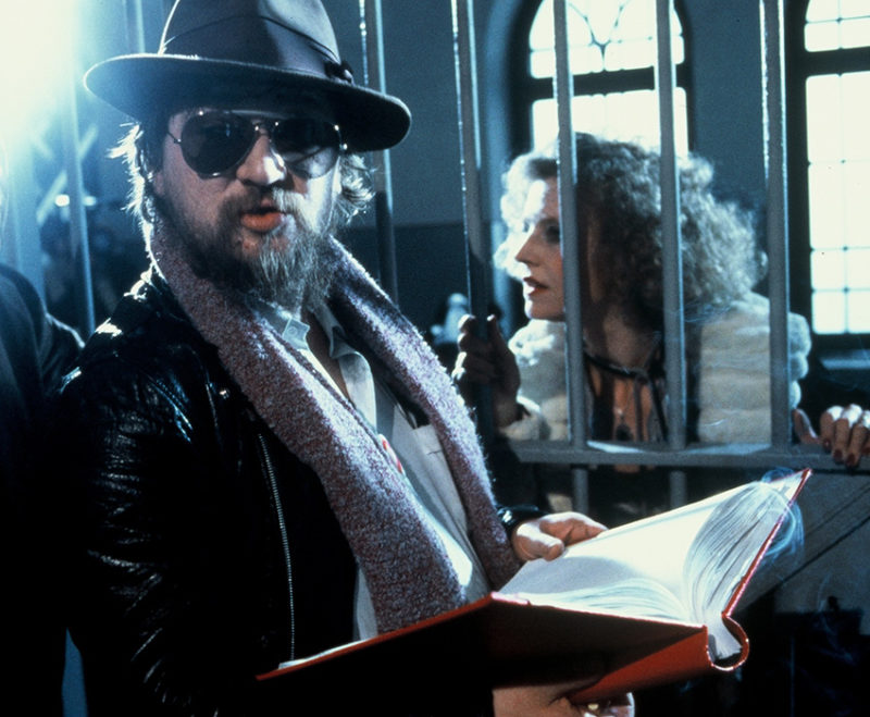Rainer Werner Fassbinder and Hanna Schygulla during a rehearsal, 1979/80