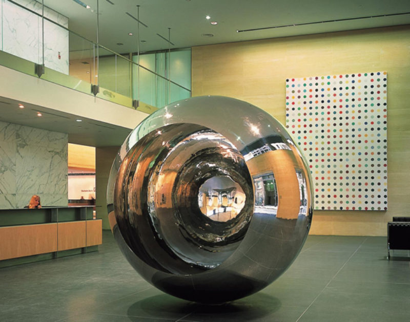 Damien Hirst, 'Bio-Malemide', 1995, and Anish Kapoor, Turning the World Upside Down III', 1996