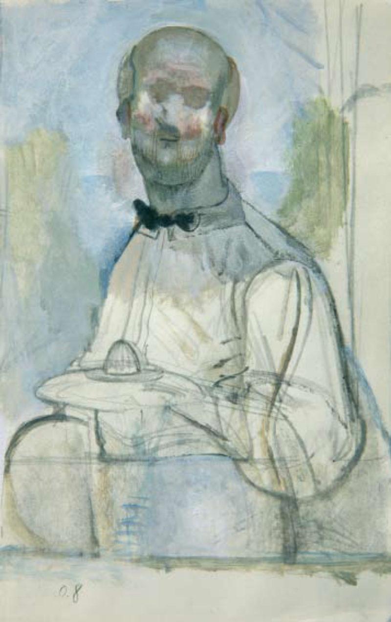 Study for 'II Traviatore', 2008, graphite and tempera on paper