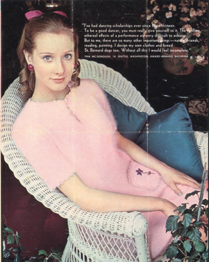 'Mom in 17 Magazine, 1966', magazine tear sheet