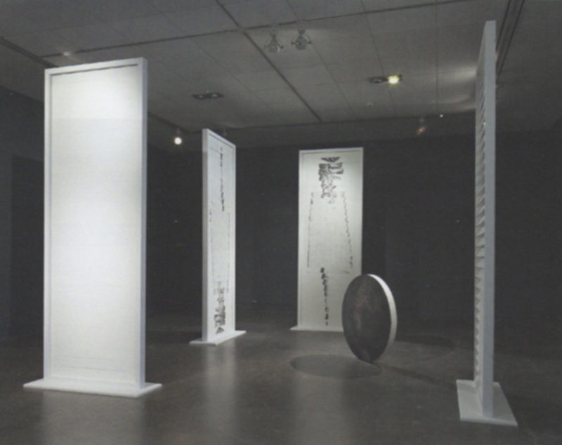 Clare Stephenson, 'Our-Lady-of-the-Conscious-Optics' (with 'Jack Sheppard Tondo', 2009. by Alex Pollard), installation view, 'The Dirty Hands', Centre for Contemporary Art, Glasgow, 2009
