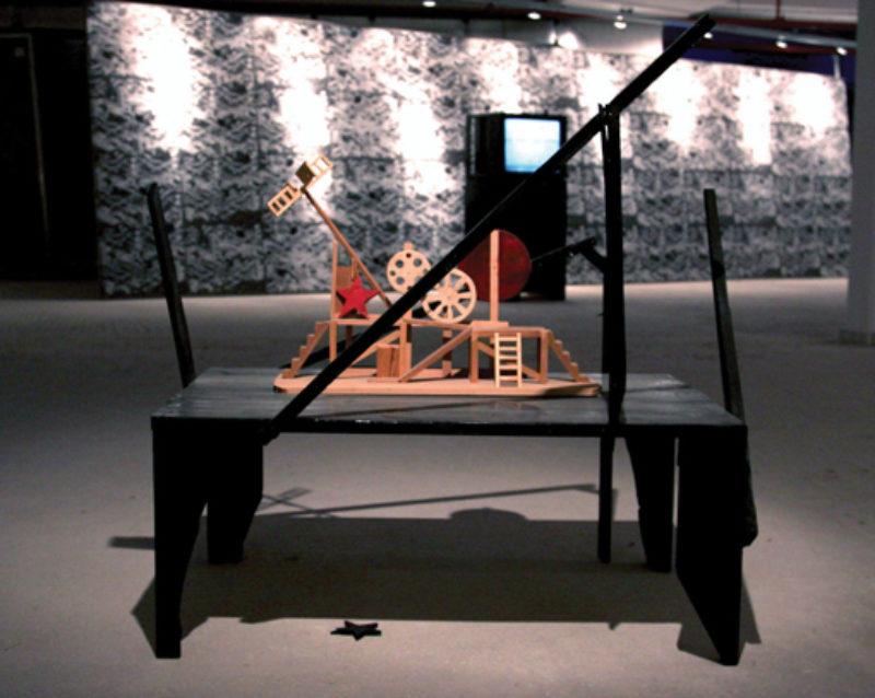 Kostis Velonis, 'Popova's Dream is Klucis Nightmare', 2009, wood, acrylic, varnish, plywood, glitter