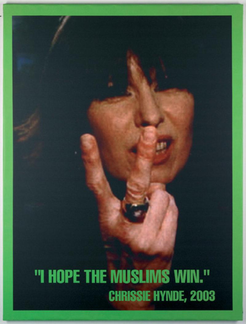 Jonathan Horowitz, 'Portrait of Chrissie Hynde (I hope the Muslims win)', 2003, inkjet print on vinyl