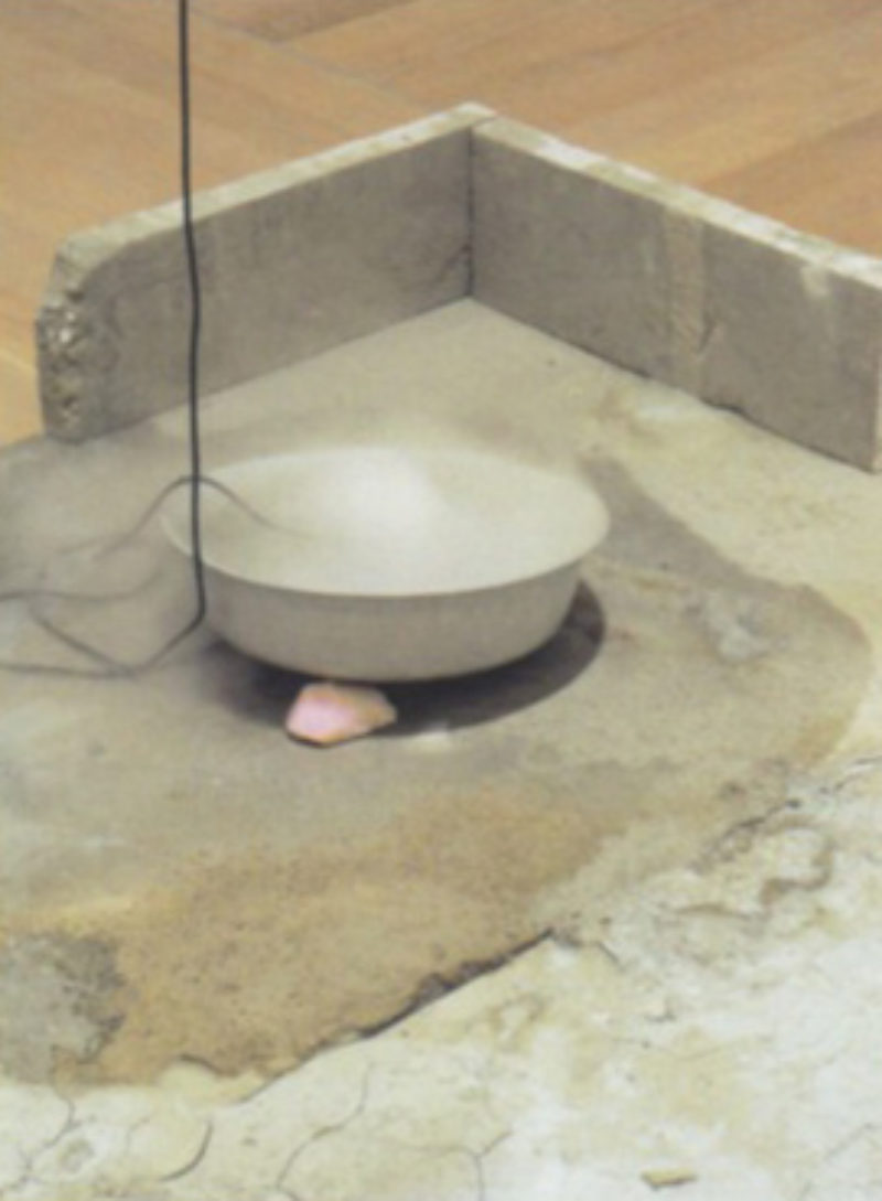Nina Canell, 'Another Ode to Outer Ends', detail, 2010, cement, water, ultra sound
