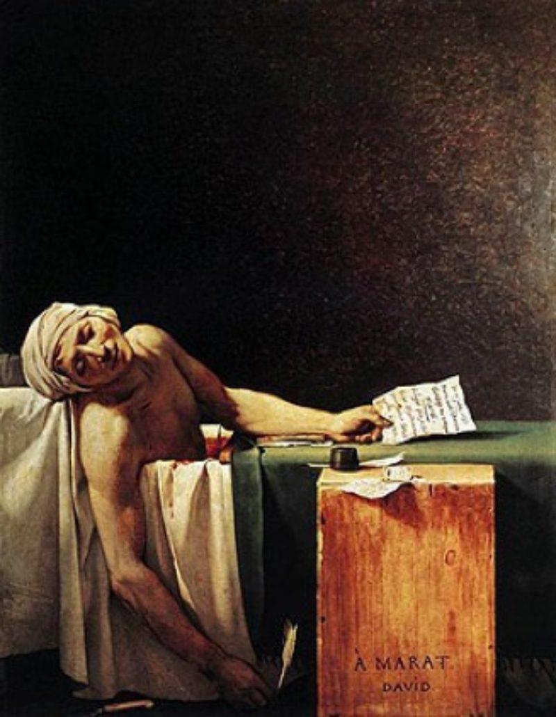 Jacques-Louis David The Death of Marat, 1793