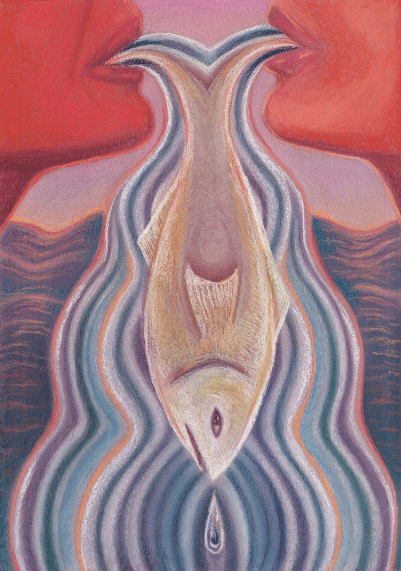 Alica Reyes Mc Namara underyourtongue Pastels and coloured pencil on paper 21 x 29 7 cm 2020